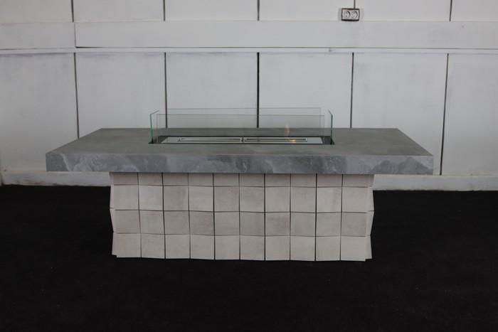 журнальный стол с биокамином