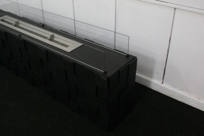 черный Напольный биокамин