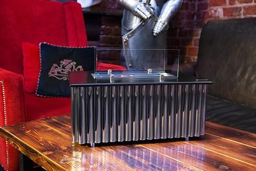 Напольный биокамин в стиле лофт из металла