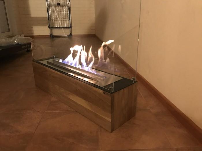 высота пламени биокамина