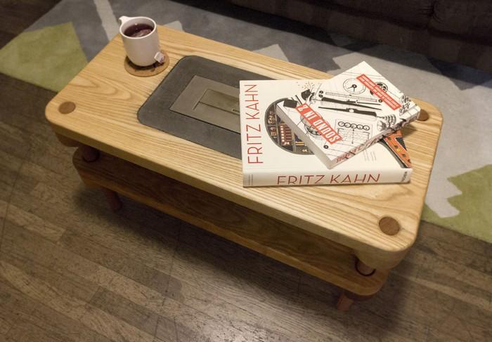 стол с биокамином своими руками
