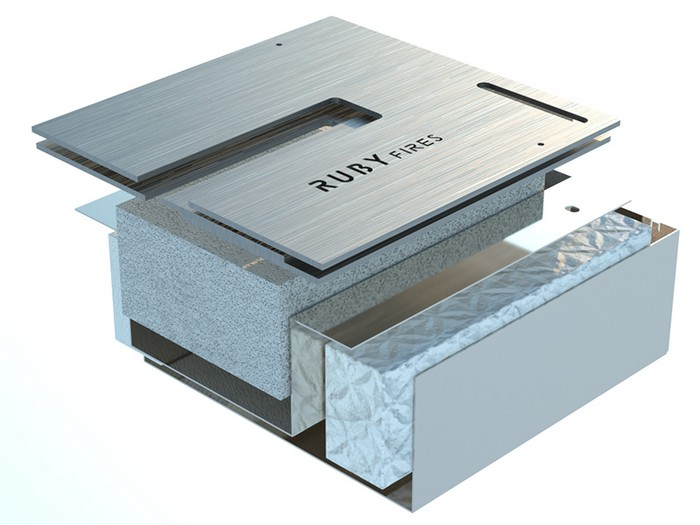 топливный блок для биокамина в разрезе