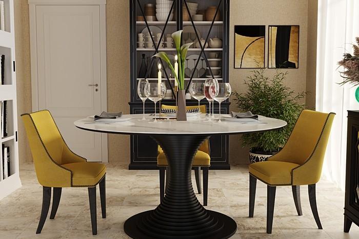 обеденный стол из керамогранита Kronco