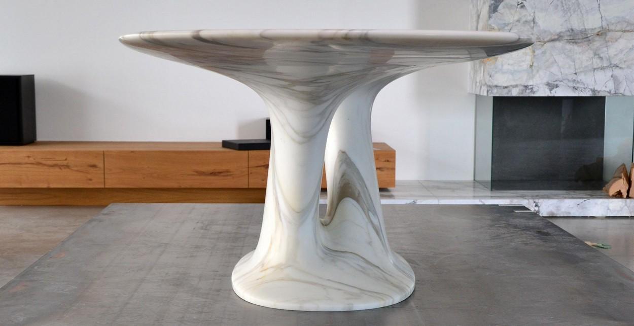 обеденный стол под мрамор