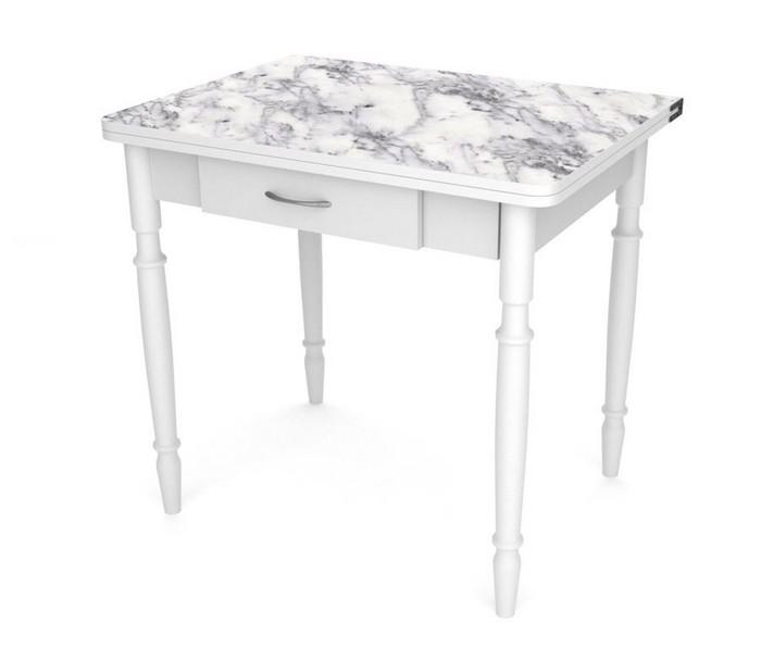 обеденный стол со столешницей из мраморного шпона