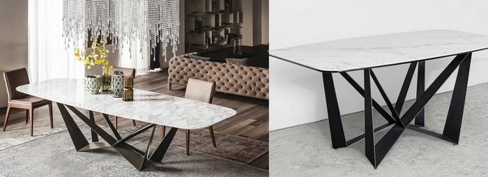 реплика и настоящий стол из Италии