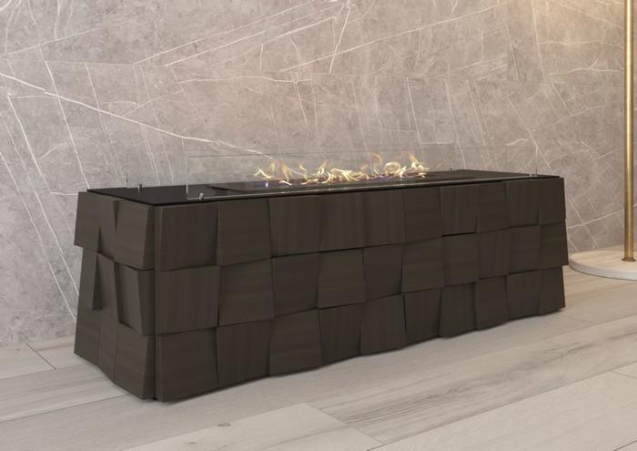 дизайнерский напольный биокамин для квартиры