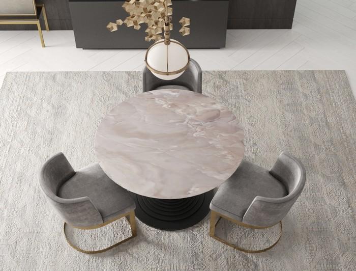 круглая форма столешницы для стола