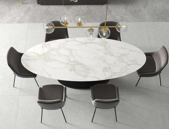 эллиптическая форма столешницы для стола