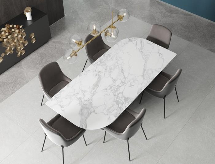 необычная форма столешницы для стола