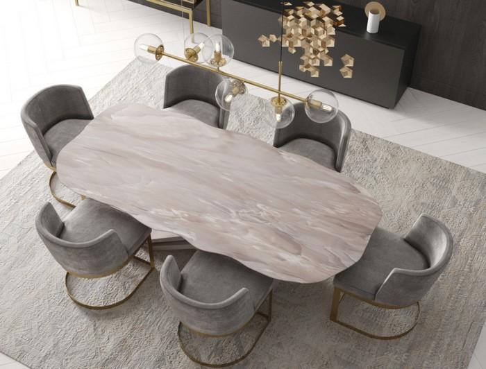 нестандартная форма столешницы для стола