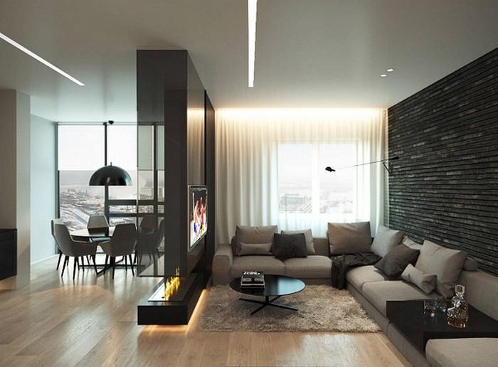 биокамин в квартире-студии