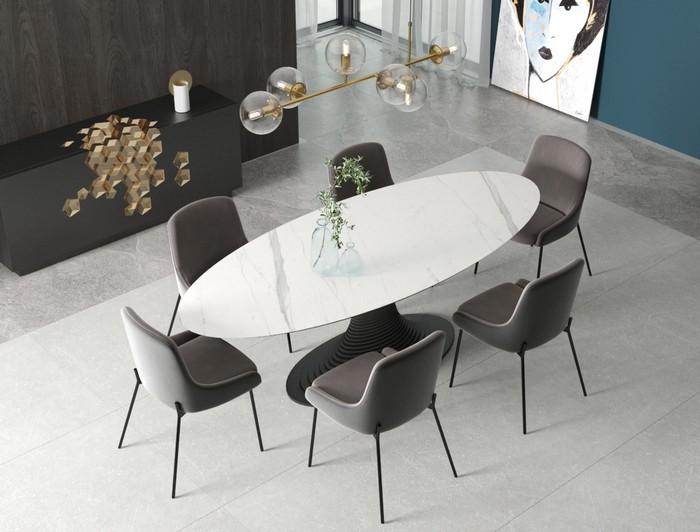 обеденный стол из керамогранита