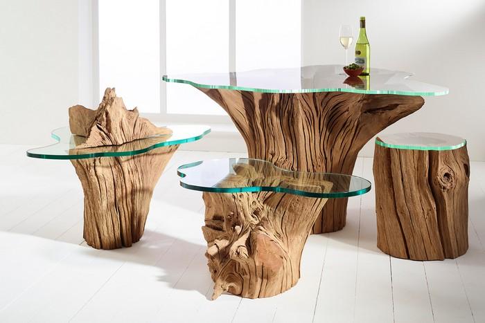варианты подстолья для стола из дерева