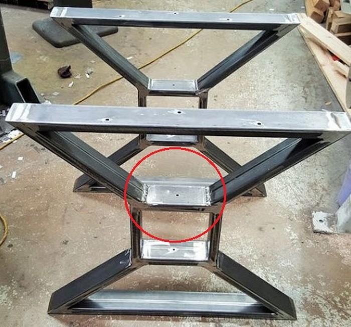 подстолье для большого стола металл