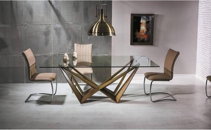 дизайнерский стол с металлическим подстольем