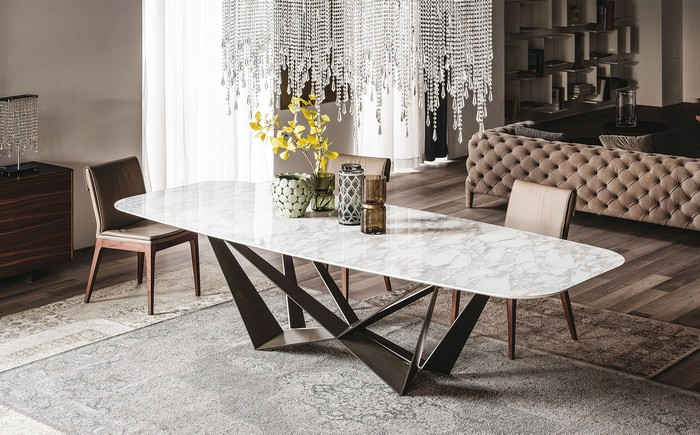 итальянский стол из керамогранита